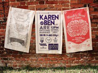 Bears & Butterflies meets… Original Wedding Tea Towels