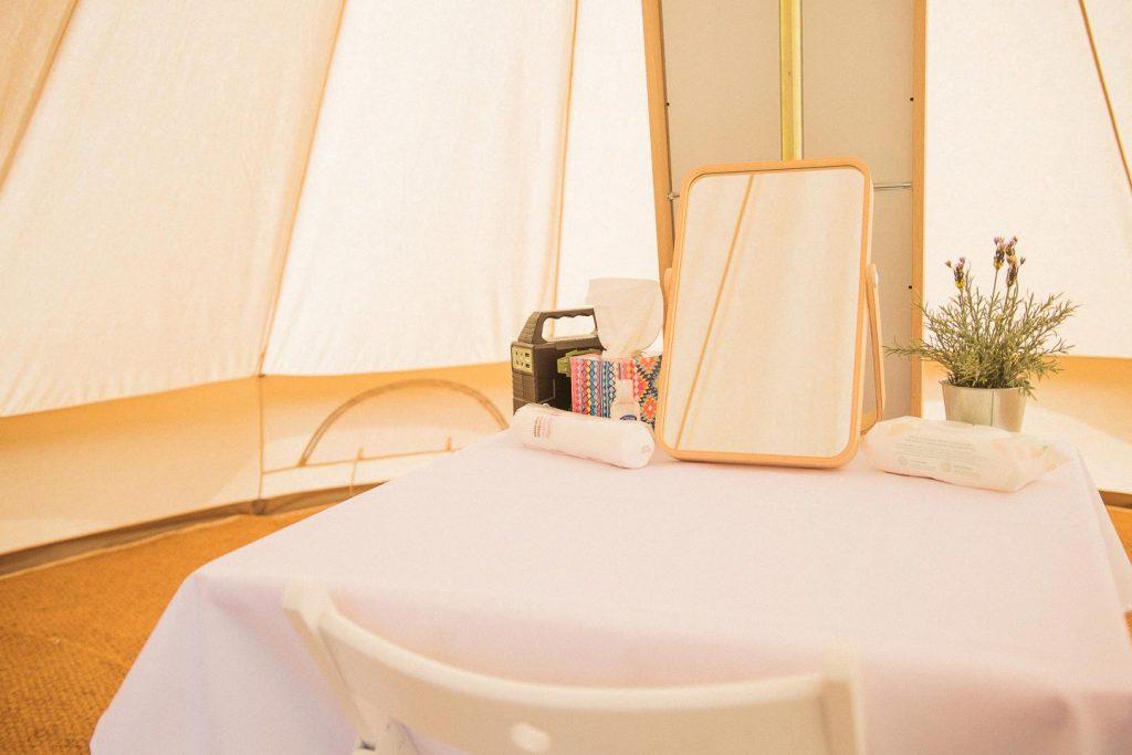 Glamping pamper tent